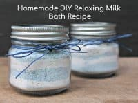 Relaxing DIY Milk Bath Recipe....