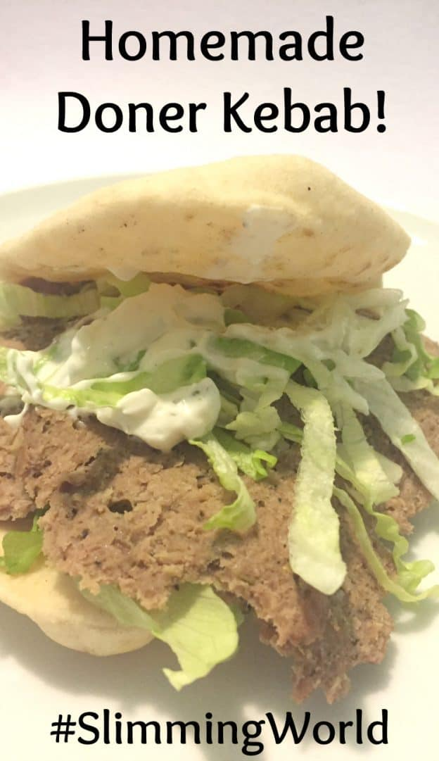 Do you enjoy a good kebab but hate the greasiness of them sometimes? Try this version of a homemade doner kebab which is delicious and healthy too. #fakeaway #SlimmingWorld #donerkebab #homeademeals