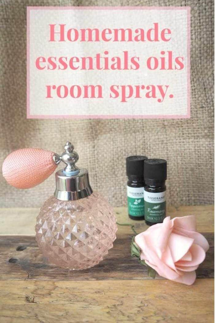 Homemade Essential Oils room spray