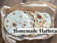 Homemade flatbread - quick, easy and brilliant....