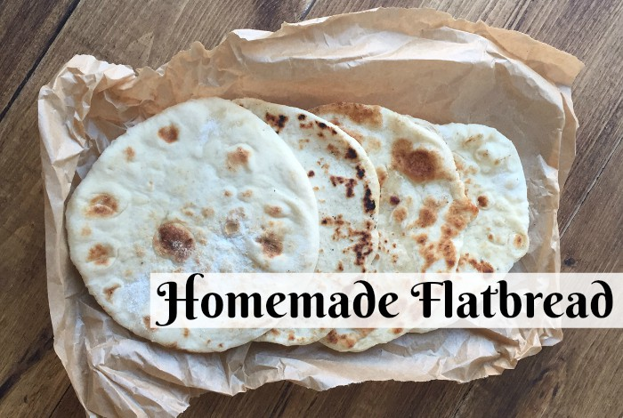 Homemade flatbread – quick, easy and brilliant….