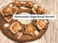 Homemade Gingerbread Wreath....