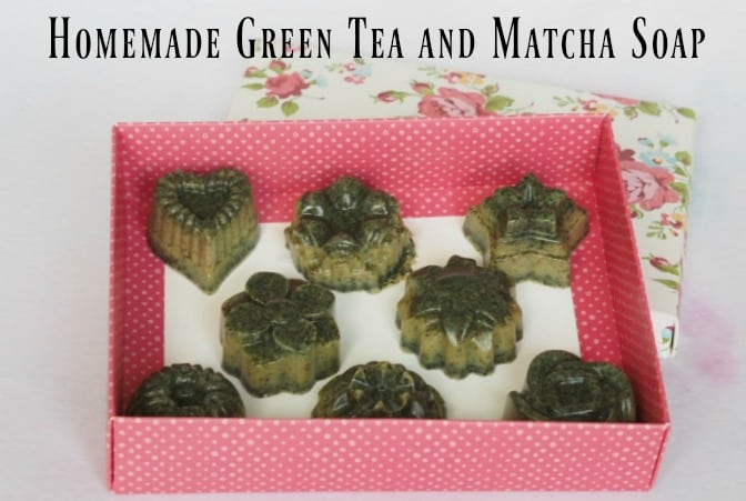 Homemade Green Tea and Matcha Soap
