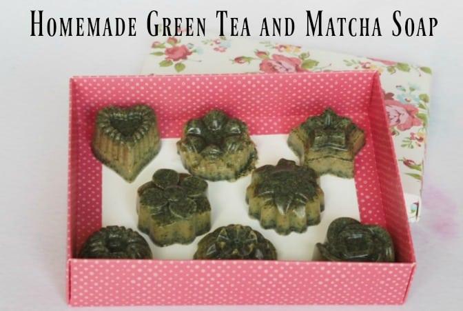 Homemade Green Tea and Matcha Soap
