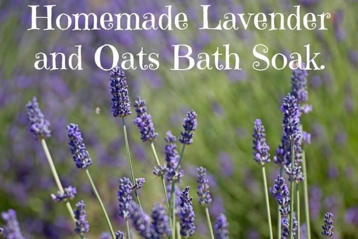 Homemade Lavender and Oats Bath Soak.