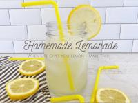 Super Refreshing Homemade Lemonade....