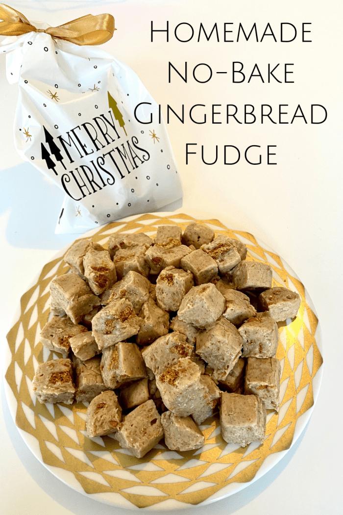 Homemade no bake gingerbread fudge recipe
