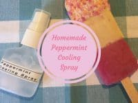 Homemade Refreshing Peppermint Cooling Spray....