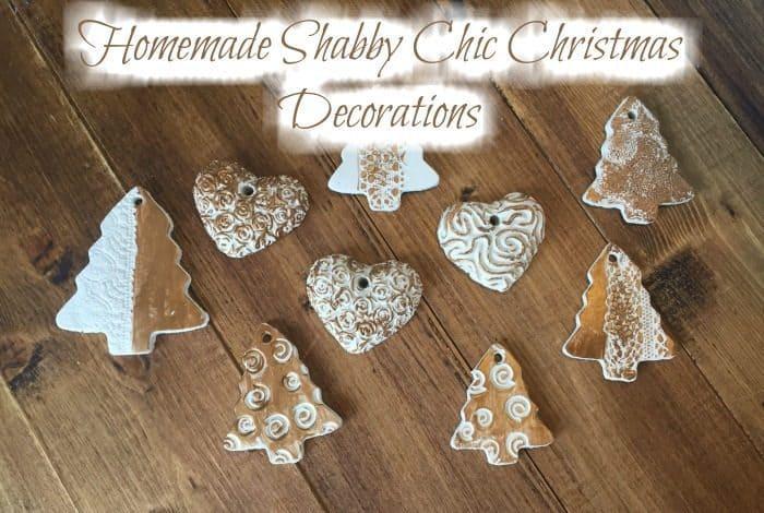 Homemade Shabby Chic Christmas Decorations