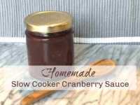 Homemade Slow Cooker Cranberry Sauce....