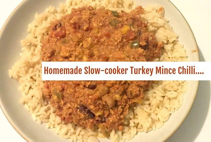 Homemade Slow-cooker Turkey Mince Chilli....