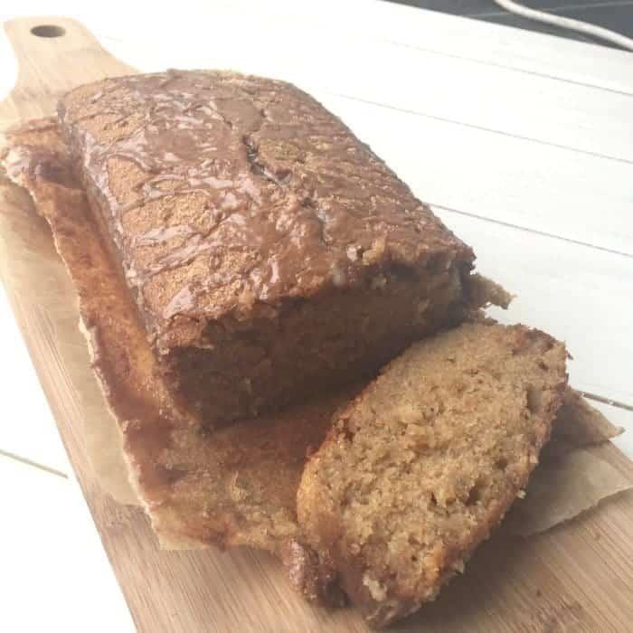Homemade banana bread with cinnamon drizzle....
