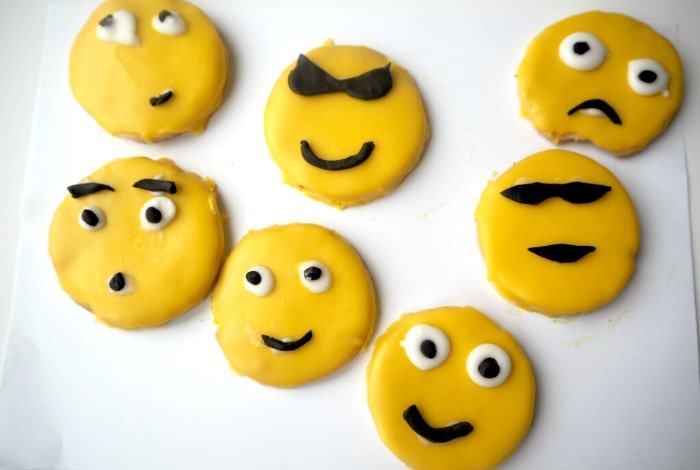 Homemade emoji biscuits