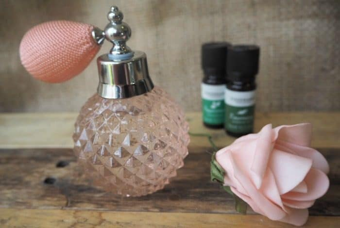 Homemade essentials oils room spray....