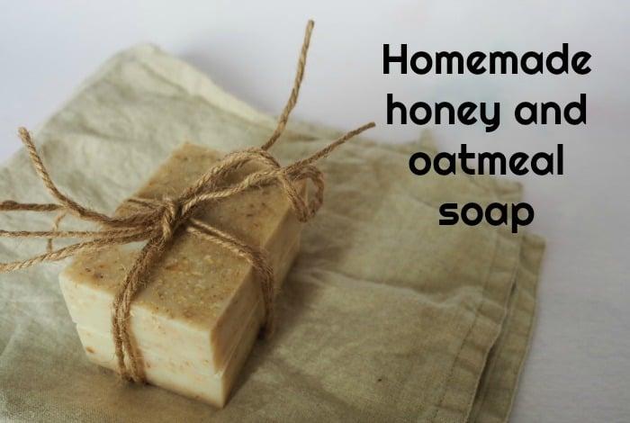 Homemade honey and oatmeal soap