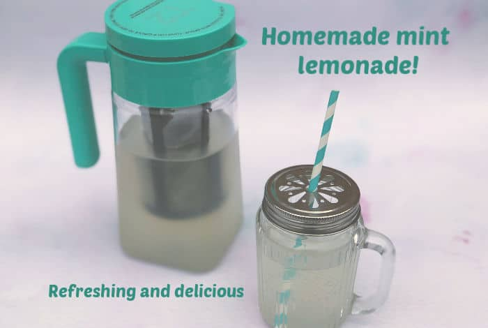 Homemade mint lemonade - refreshing and delicious
