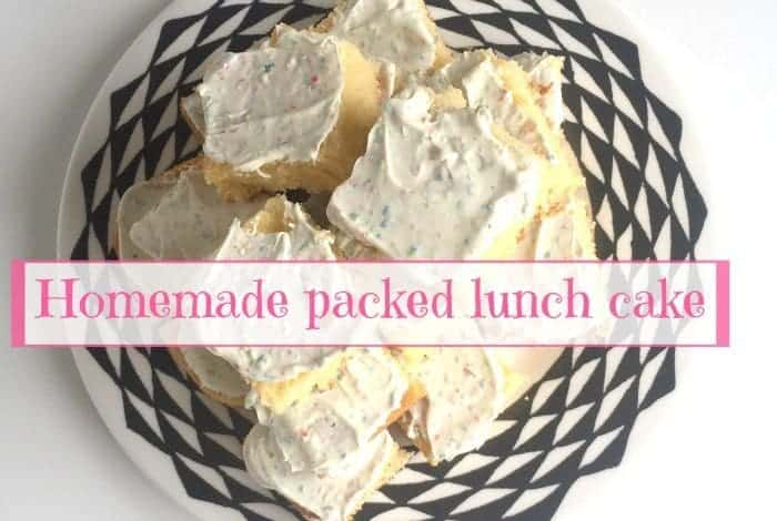 Homemade packed lunch cake