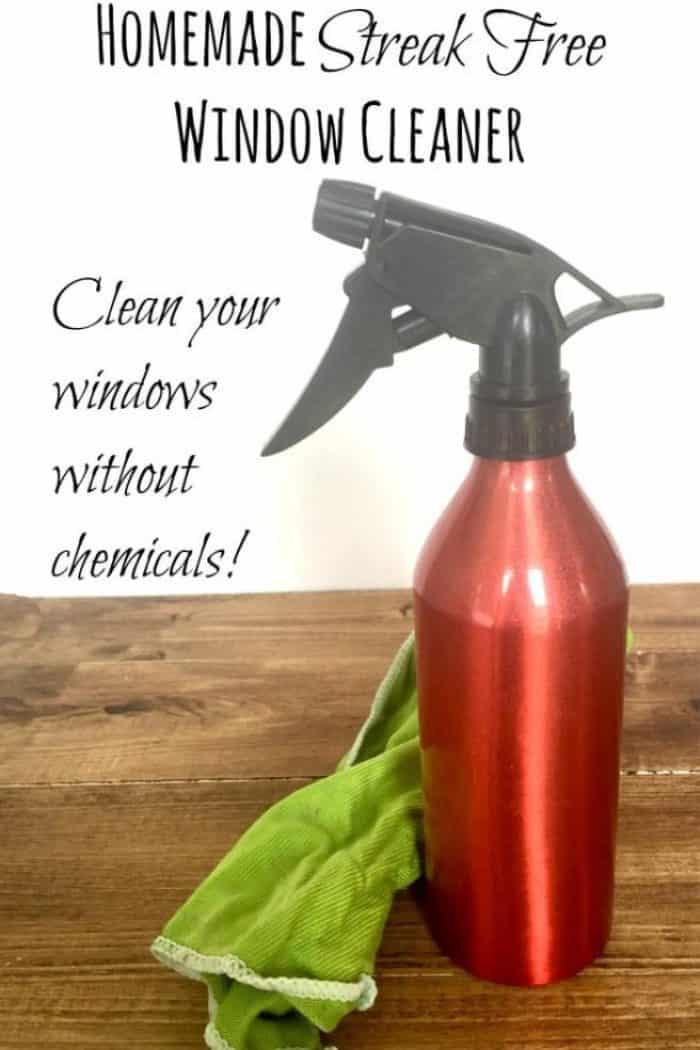 Homemade streak free window cleaner.