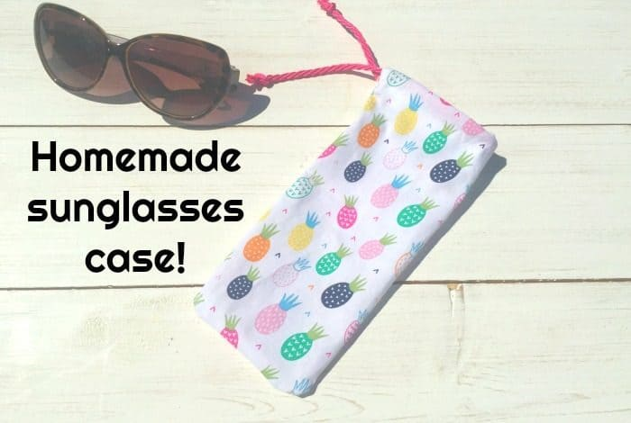 Homemade sunglasses case
