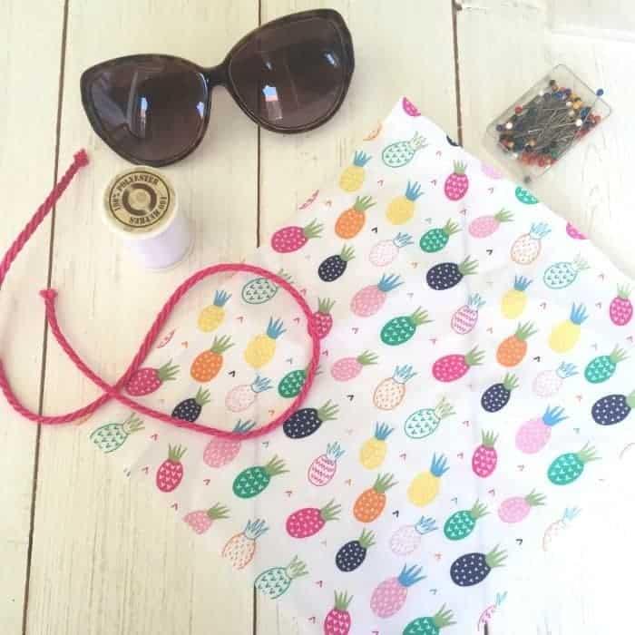 Homemade sunglasses case