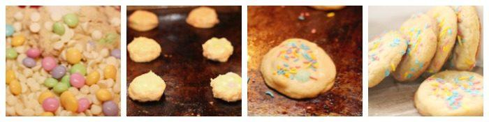 Homemade white chocolate cookies