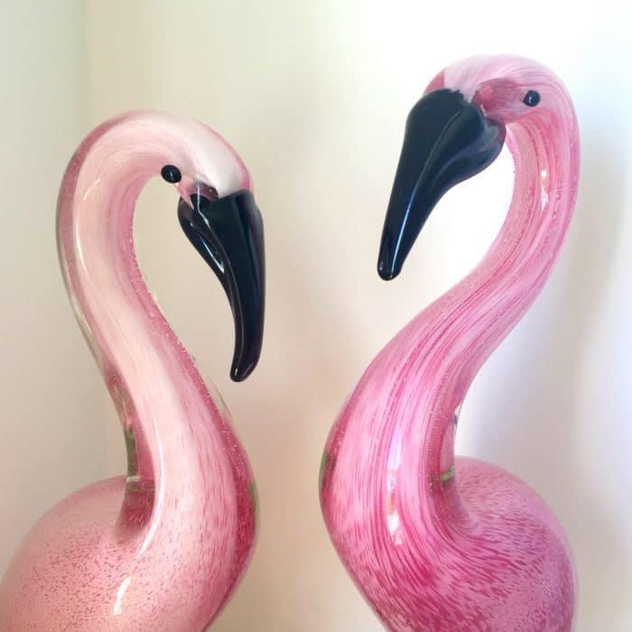 #Homesensefinds Glass Flamingos