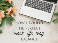 How I achieved the perfect work, life, blog balance...