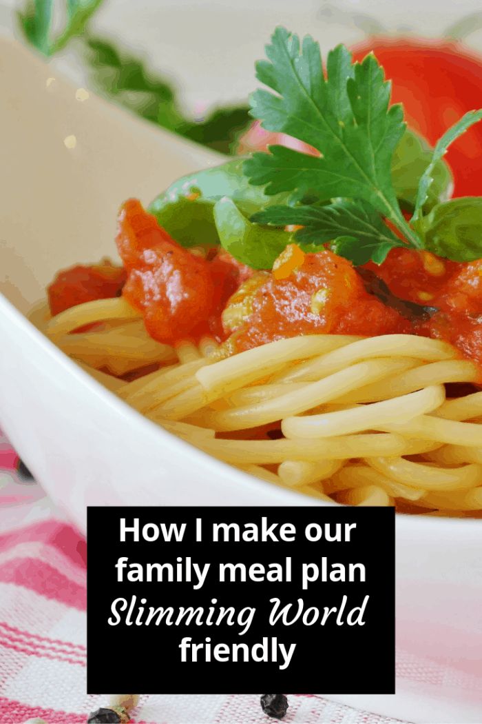 How I make our family meal plan Slimming World friendly