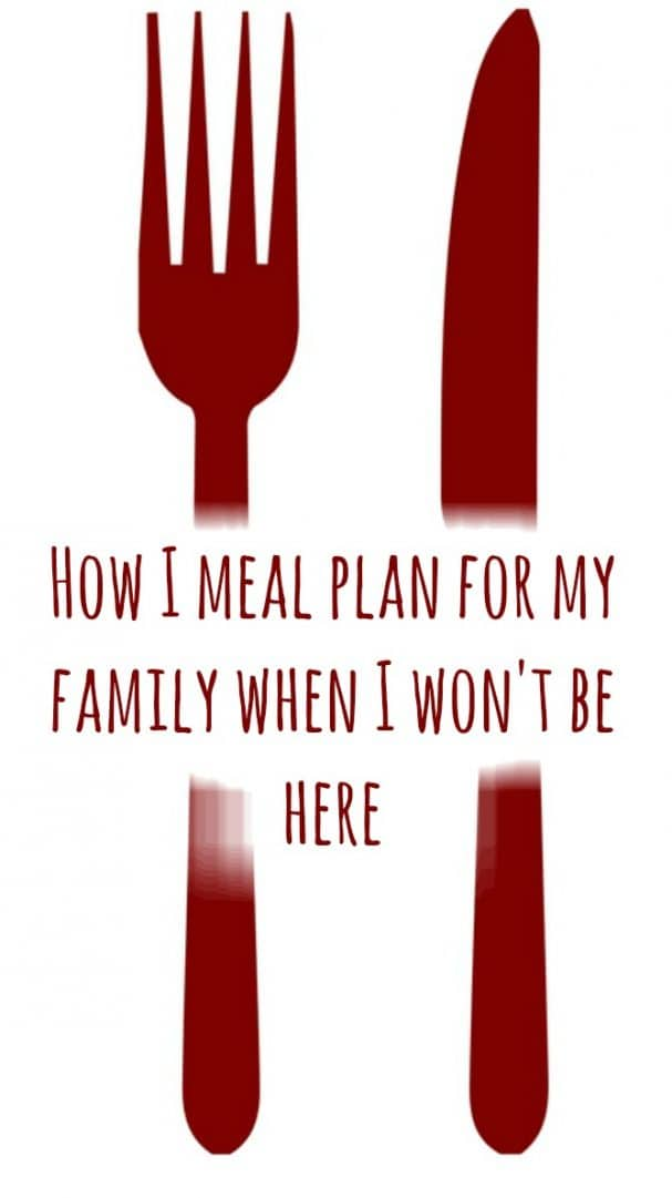 How I meal plan for my family when I won't be here....
