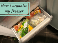 How I organise my freezer space....