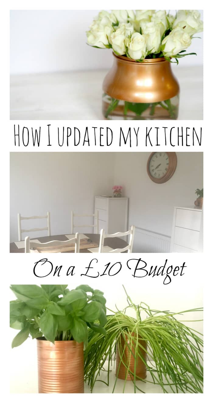 How I updated my kitchen on a £10 budget. It took half an hour and looks amazing now!