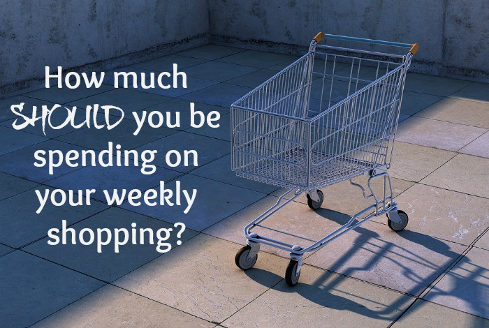 How much SHOULD you be spending on your weekly shopping?