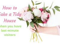 How to fake a tidy house when you have last minute visitors....