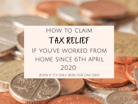How to claim tax relief if you're working from home....