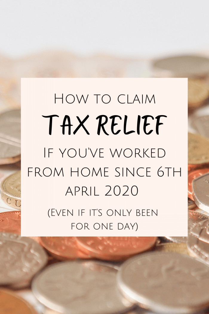 How to claim working from home tax relief