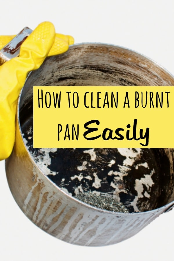 How to clean a burnt pan Easily