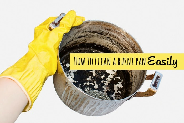 How to clean a burnt pan - easily