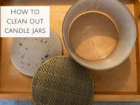 How to clean out candle jars....