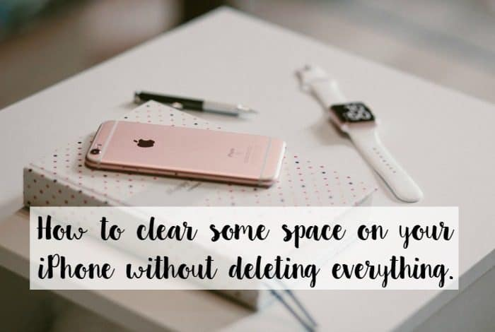 How to clear some space on your iPhone without deleting everything....
