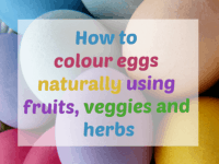 How to colour eggs naturally....
