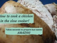 How to cook a whole chicken in the slow cooker....