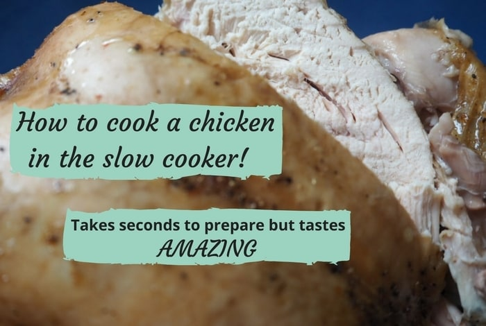 How to cook a chicken in the slow cooker!