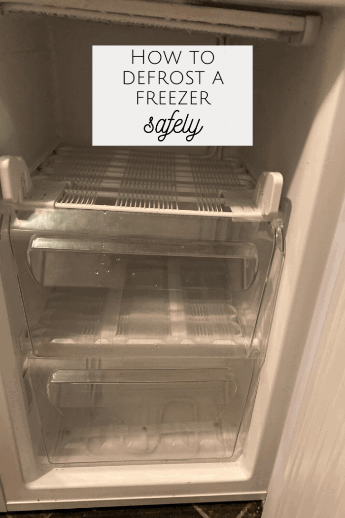 How to defrost a freezer safely!