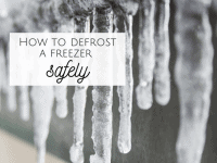How to defrost a freezer safely....
