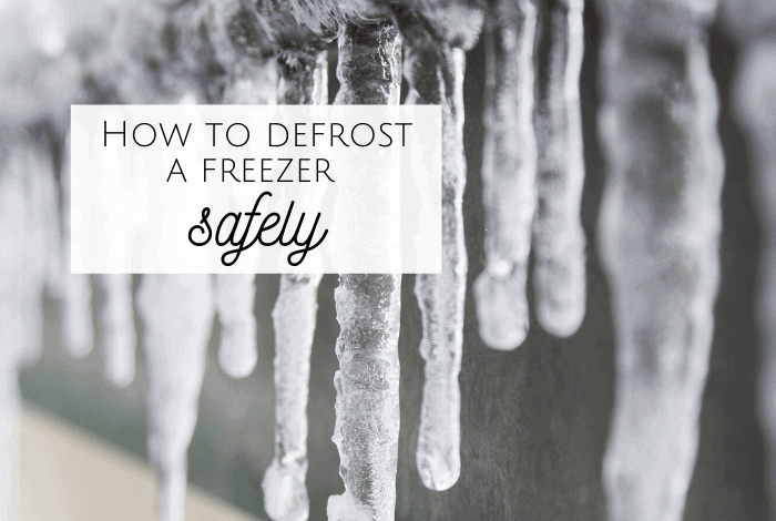 How to defrost a freezer safely