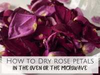 How to dry rose petals....