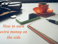How to earn extra money on the side....