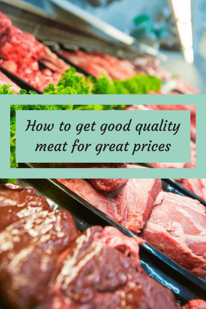 How to get good quality meat for great prices....