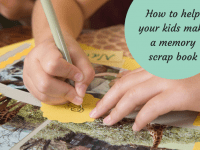 Helping your kids to create a memory scrapbook....