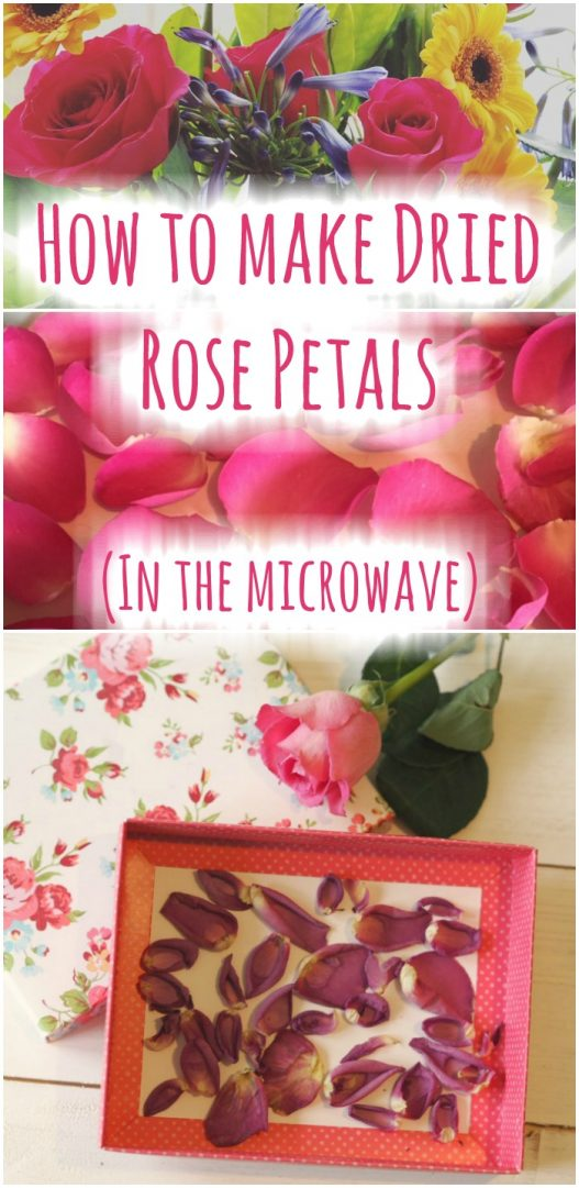 How to make Dried Rose Petals (in the microwave). This is a quick and easy way to dry your rose petals.